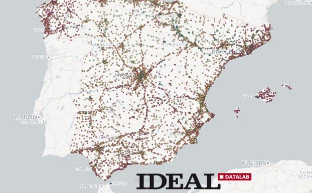 El Mapa Con Todas Las Gasolineras De Espana Cuales Son Las Mas