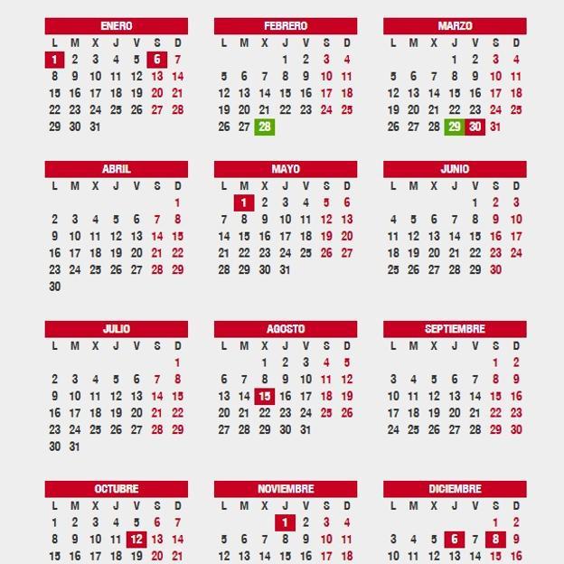 Semana Calendario.Cuando Cae La Semana Santa 2018 Fechas Festivos Y Puentes En El