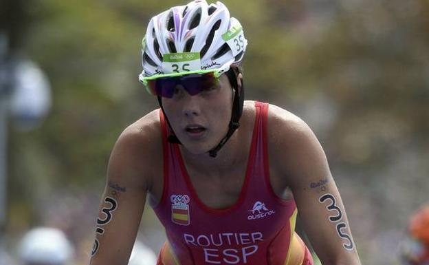 La triatleta olímpica Carolina Routier.