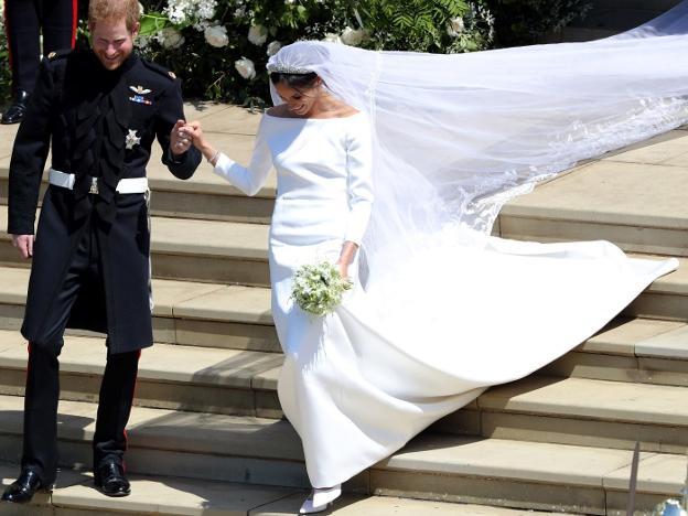 el secreto de la diseñadora que hizo el vestido de novia de meghan