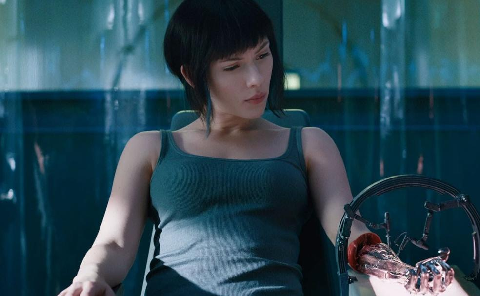 Scarlett Johansson, en 'Ghost in the Shell'./