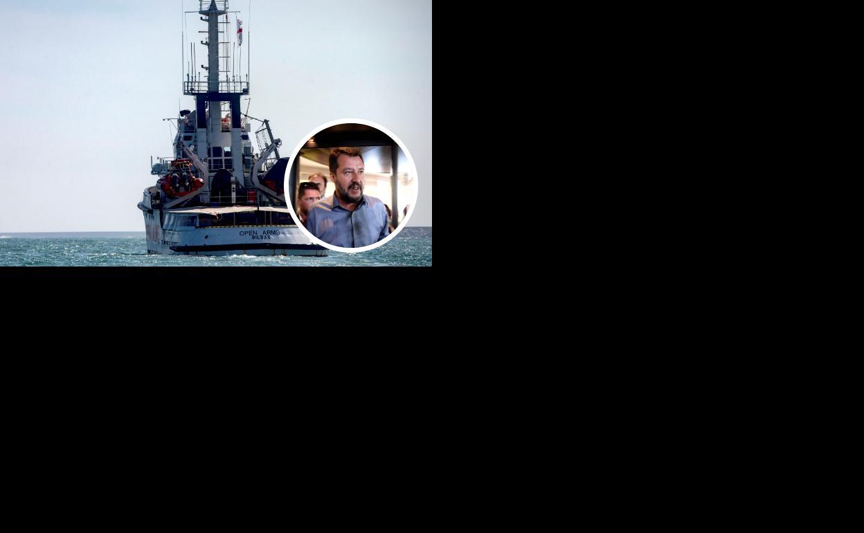 Salvini insta al 'Open Arms' a que ponga rumbo a España   Ideal