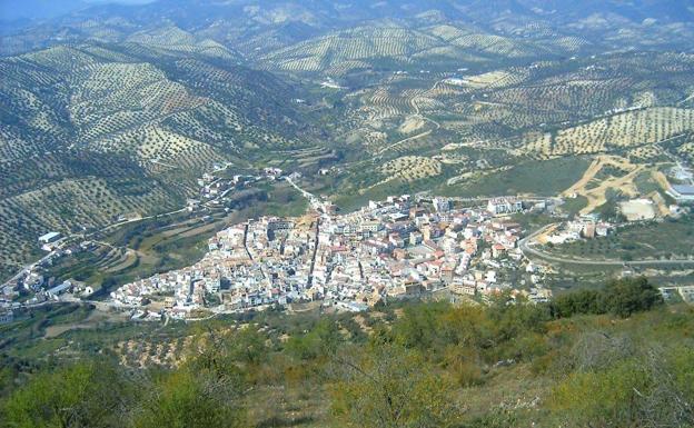 Vista de la localidad granadina de Algarinejo.