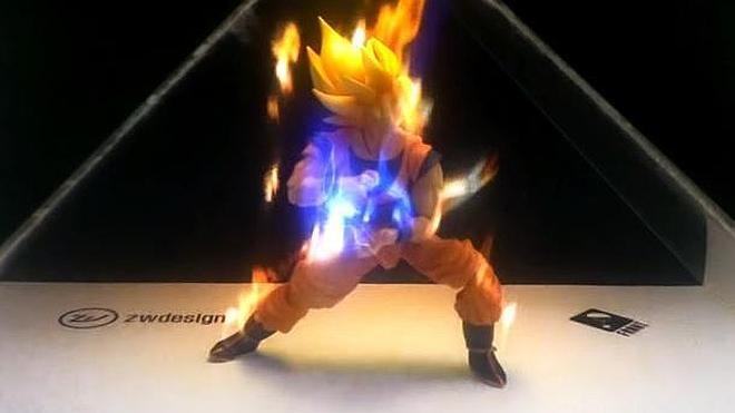 Brutal holografía de Goku acumulando energía para lanzar un KameHameHa |  Ideal