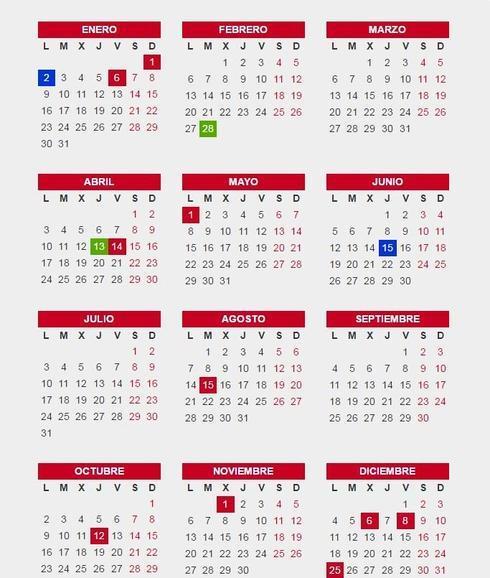 1d1a2a6178c Calendario laboral de 2017 en Andalucía  festivos y puentes