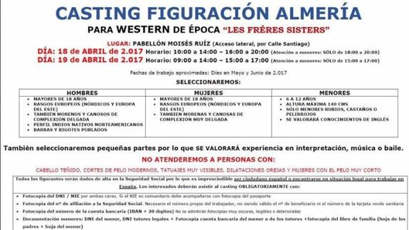 Casting Almeria Pelicula